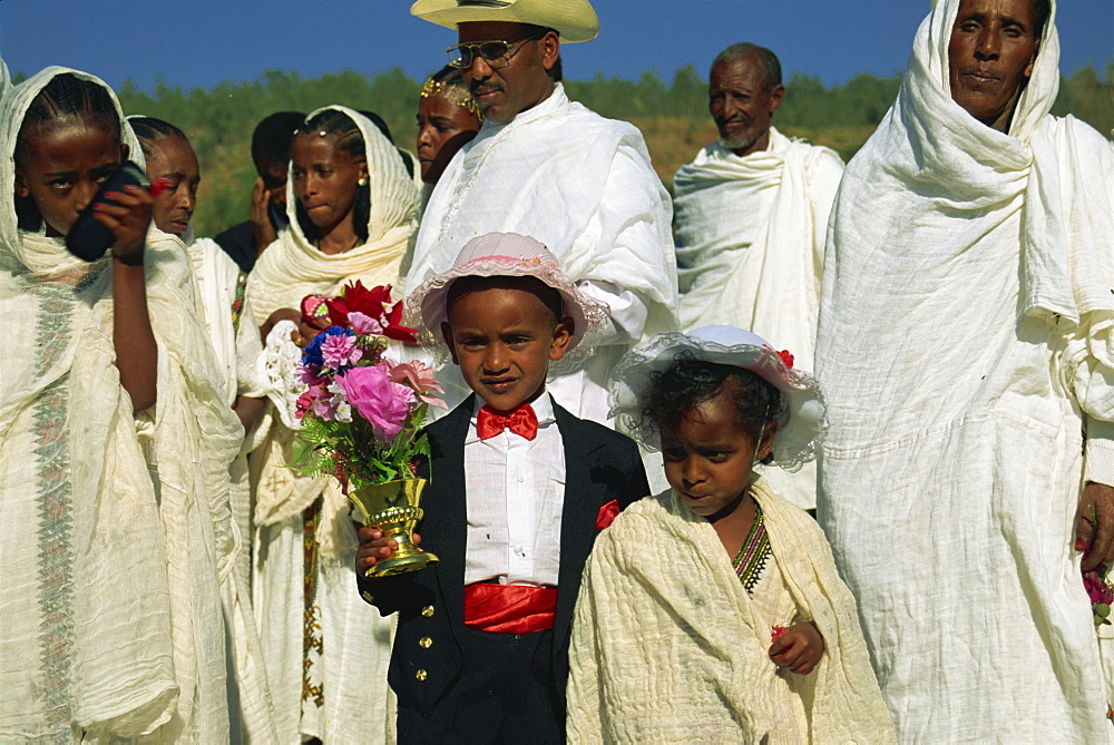 Page boy at wedding party, Ethiopia, Africa - 382-684