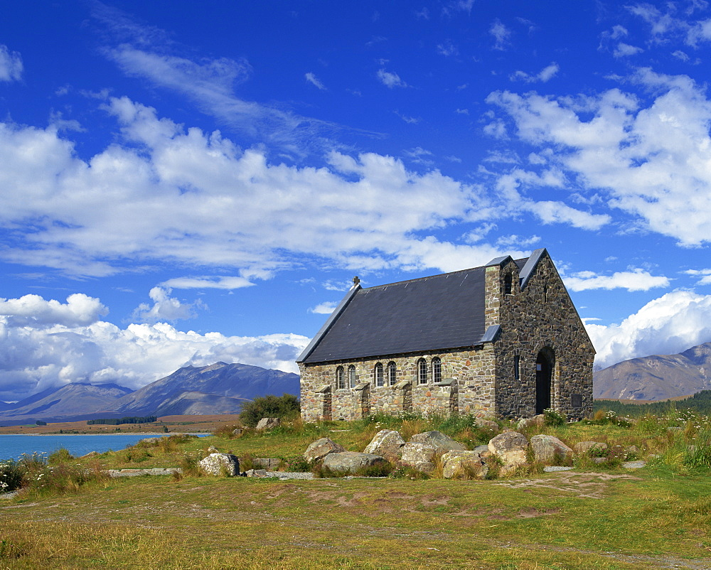 The Church of the Good Shepherd on the shores of Lake Tekapo in the South Island, New Zealand, Pacific - 383-1402