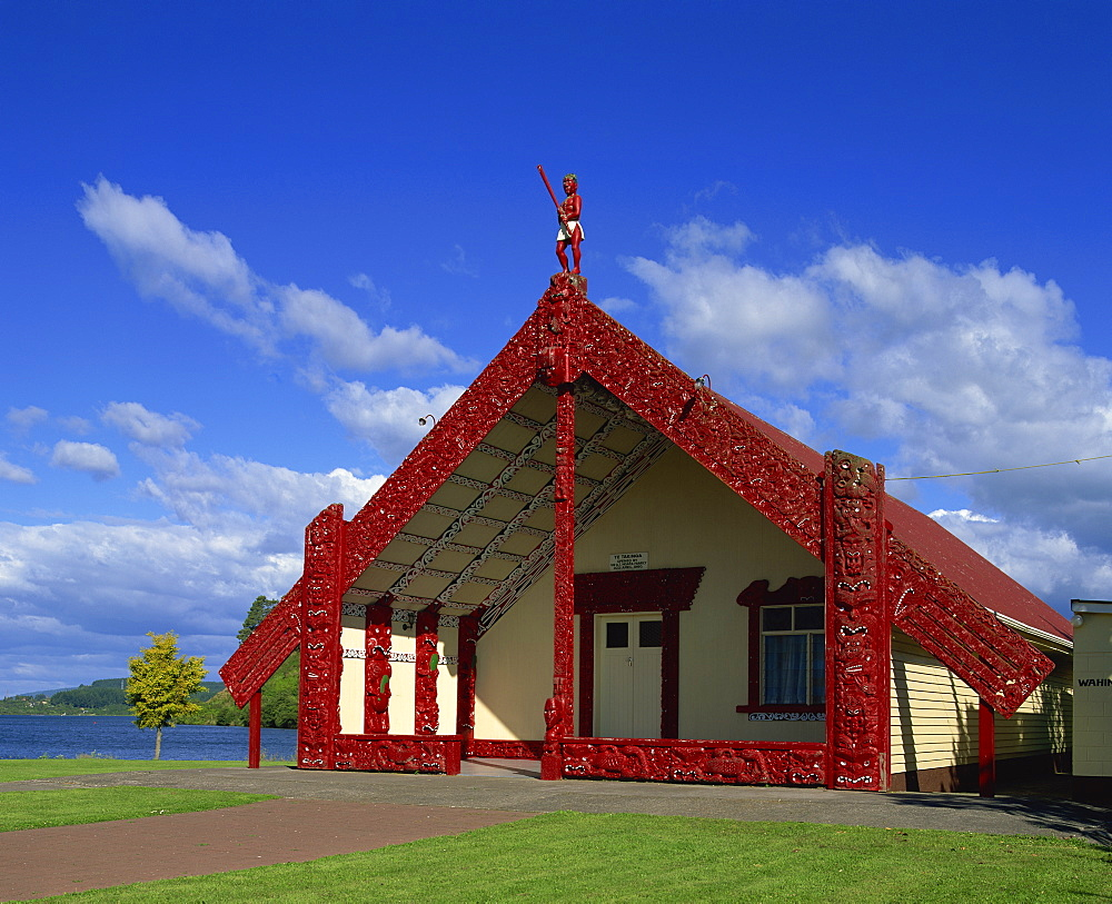 Marai, a Maori Meeting House at Rotorua, North Island, New Zealand, Pacific - 383-1425
