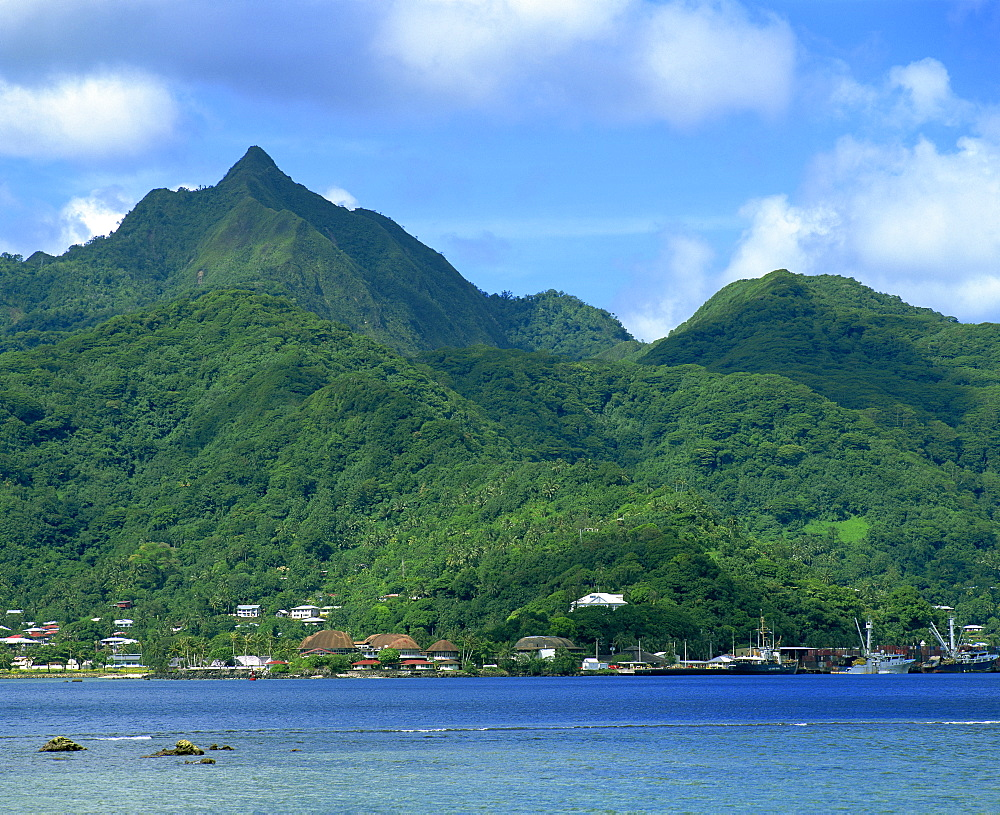 Pago Pago harbour on the island of American Samoa, Pacific Islands, Pacific