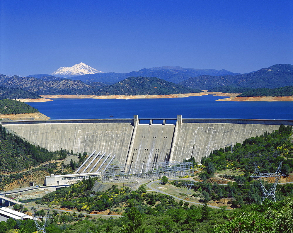 Hydro-electric dam, California, United States of America, North America