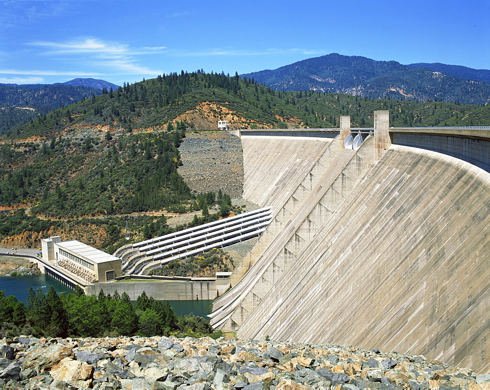 The Redding Shasta Dam in California, United States of America, North America