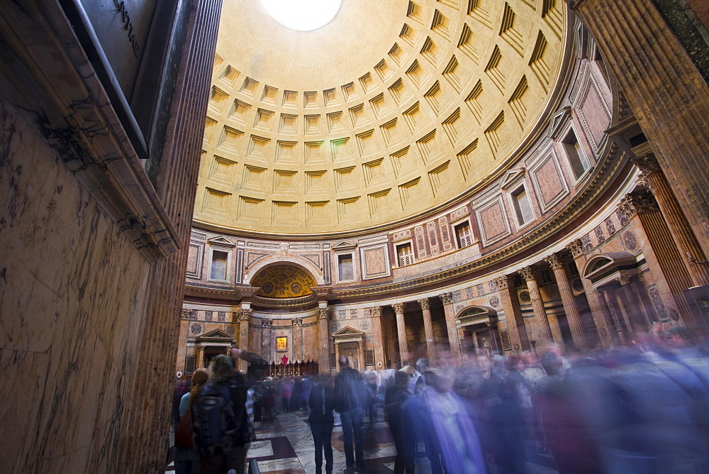 Interior, Pantheon, Rome, Lazio, Italy, Europe - 385-1649