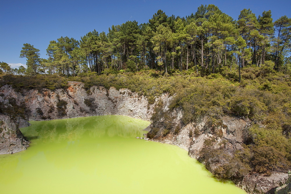 The Devil's Bath, Waiotapu Goethermal Wonderland, Rotorua, New Zealand, Oceania