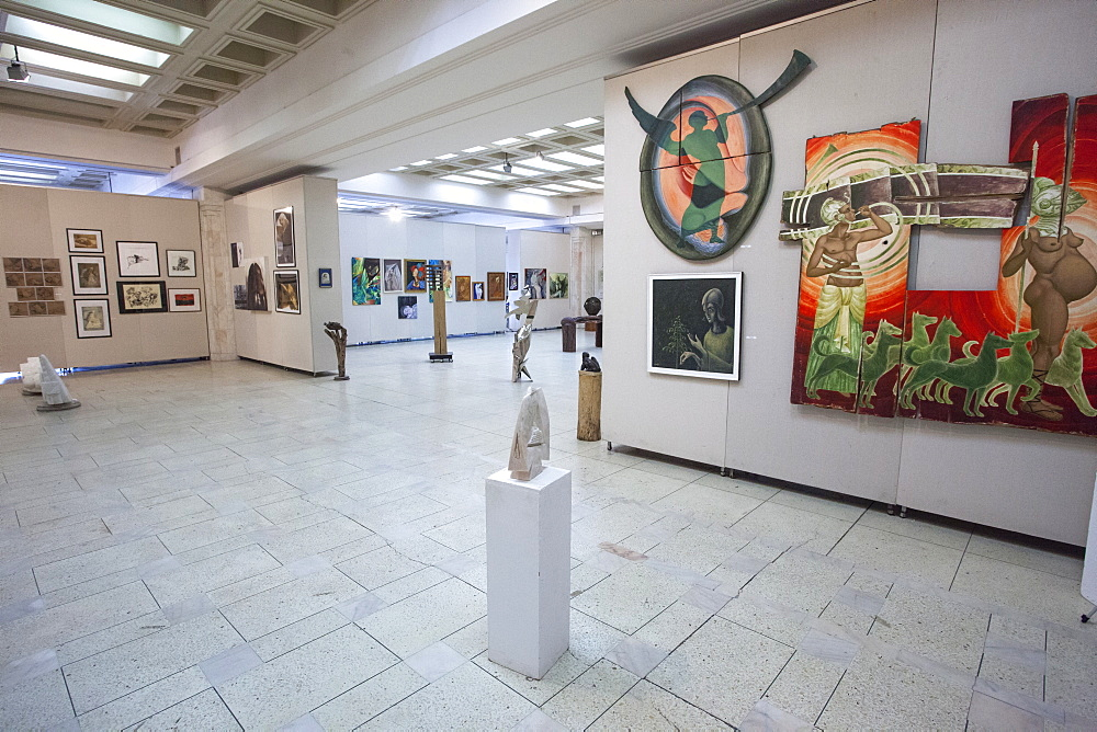 Contemporary Art Museum inside the Palace of Parliament, Bucharest, Romania, Europe