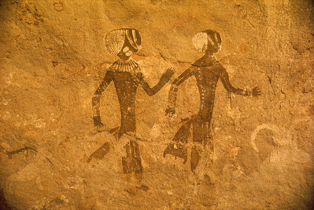 Tassili rock painting, Algeria, North Africa, Africa
