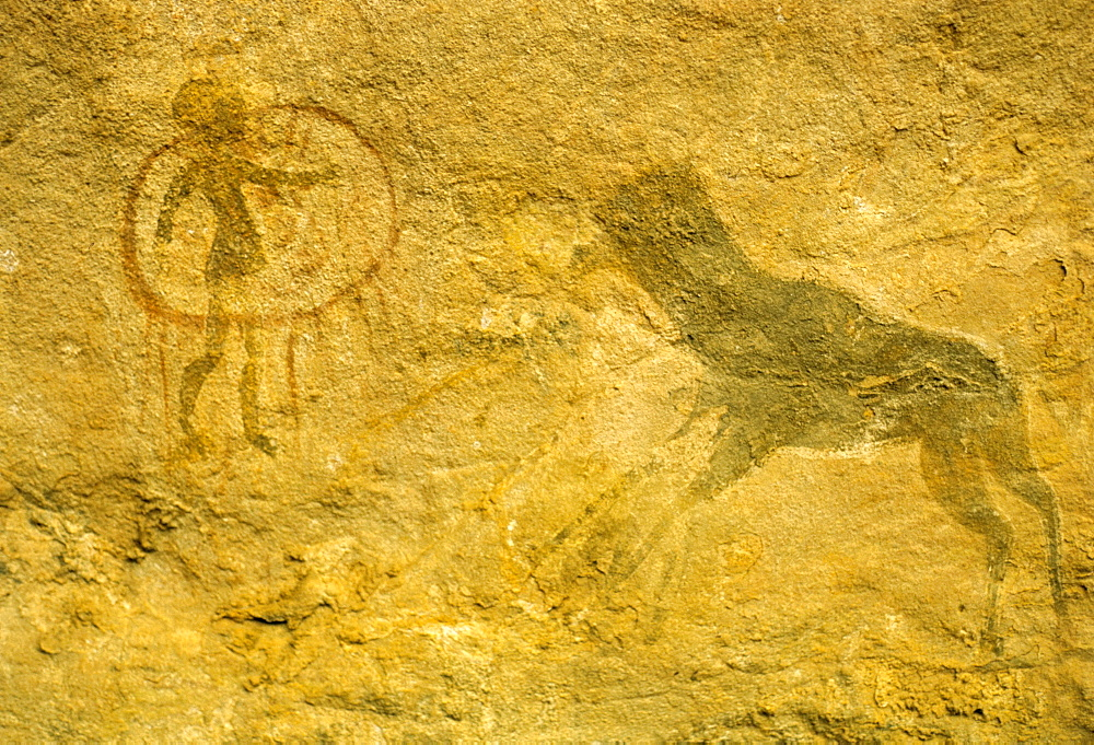 Rock paintings, Tassili, Algeria, North Africa, Africa