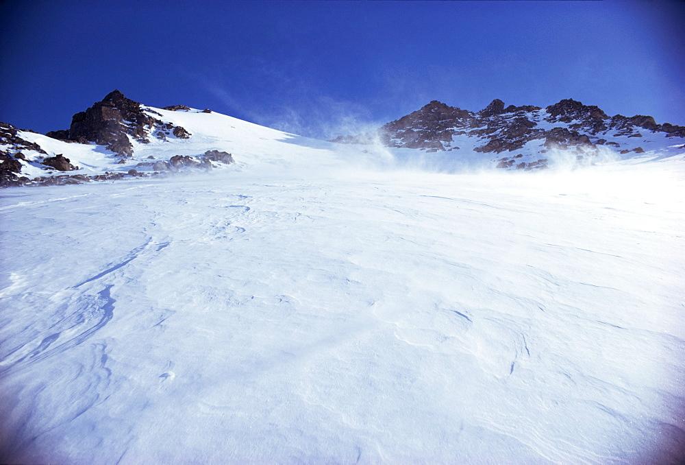 Wind blowing snow, Greenland, Polar Regions
