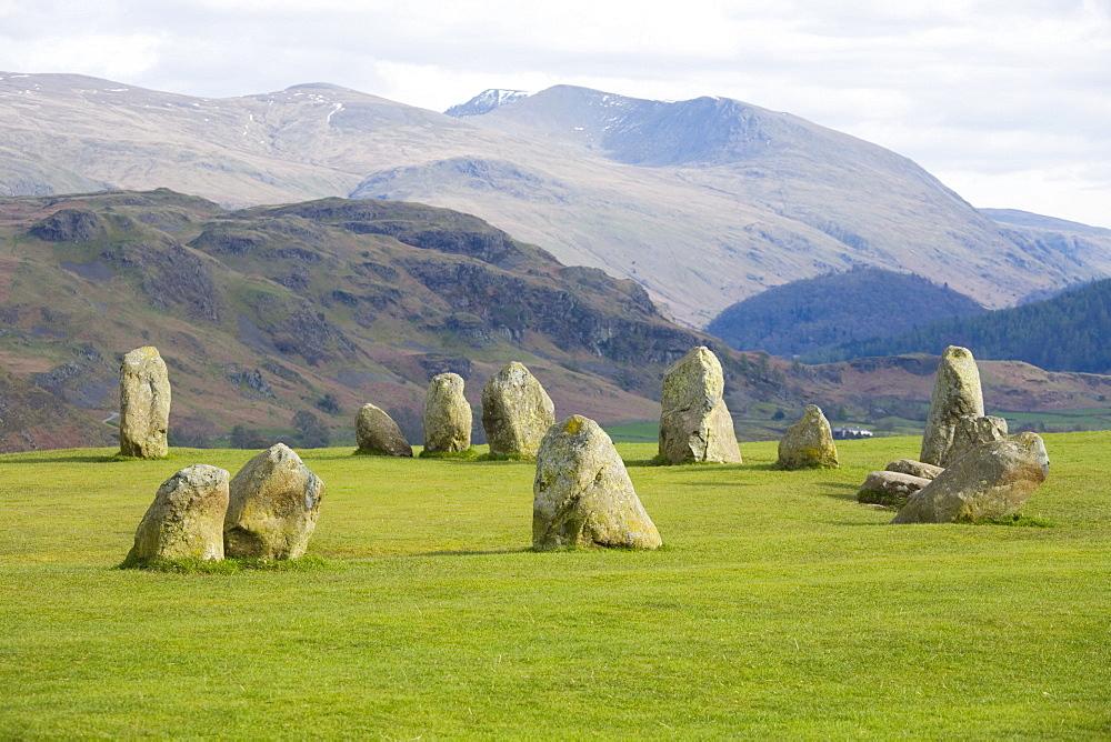 Castlerigg Stone Circle, Keswick, Lake District National Park, Cumbria, England, United Kingdom, Europe