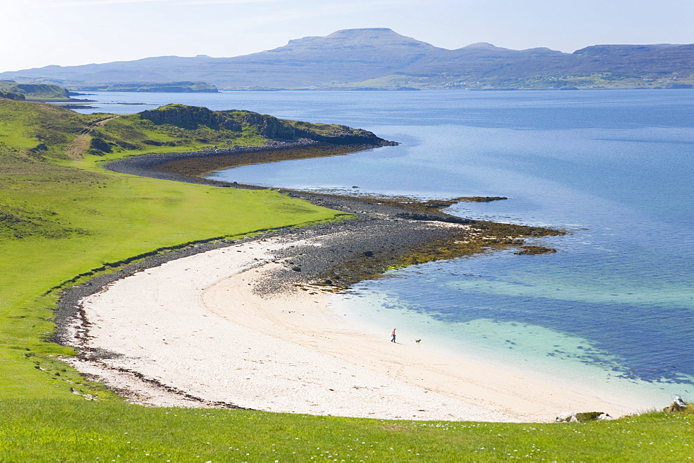 View over Coral Beach and Loch Dunvegan, Claigan, near Dunvegan, Isle of Skye, Inner Hebrides, Highland, Scotland, United Kingdom, Europe - 390-2903