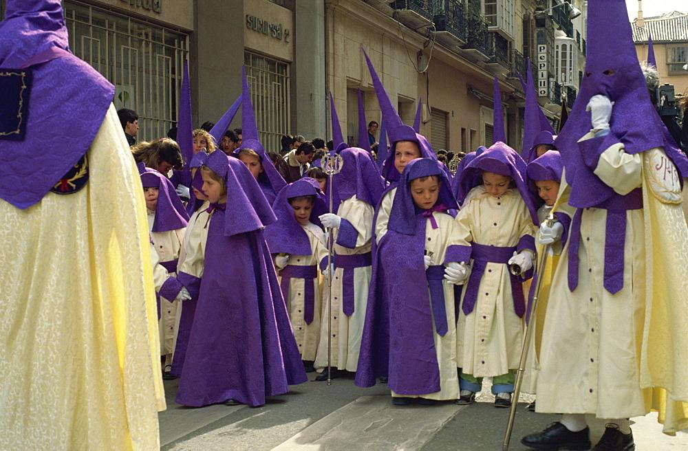 Pollinica Brotherhood, Palm Sunday, Easter Week, Malaga, Andalucia, Spain, Europe - 391-1155