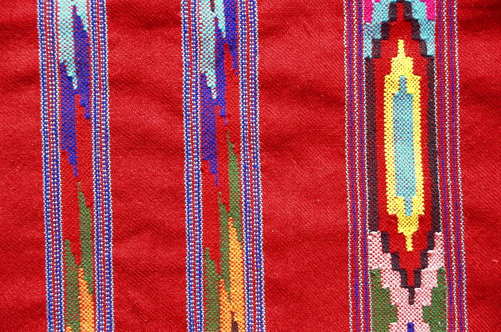 Detail of a Kulu shawl from the Himalaya, Himachal Pradesh, India, Asia - 391-4934