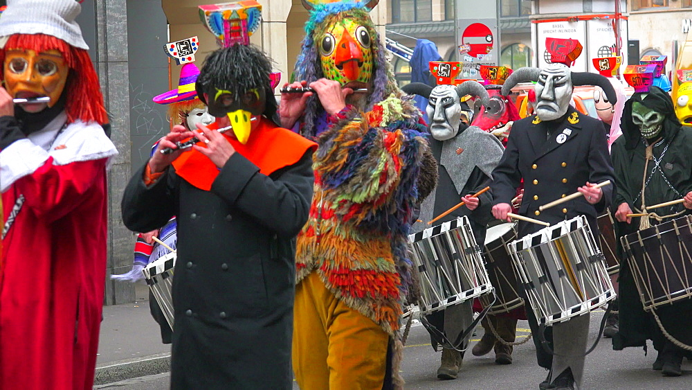 Carnival of Basel (Basler Fasnacht), Basel, Canton of Basel City, Switzerland, Europe - 396-10126
