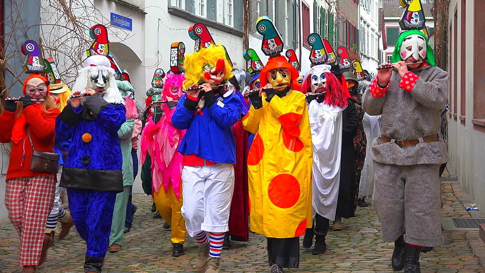 Carnival of Basel (Basler Fasnacht), Basel, Canton of Basel City, Switzerland, Europe