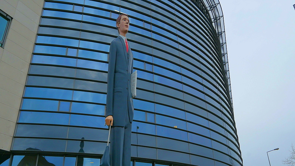 Sculpture The Tall Banker, John F. Kennedy Avenue, Kirchberg Plateau, Luxembourg City, Grand Duchy of Luxembourg, Europe - 396-10420