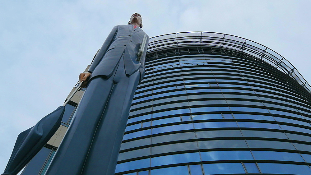 Sculpture The Tall Banker, John F. Kennedy Avenue, Kirchberg Plateau, Luxembourg City, Grand Duchy of Luxembourg, Europe - 396-10421
