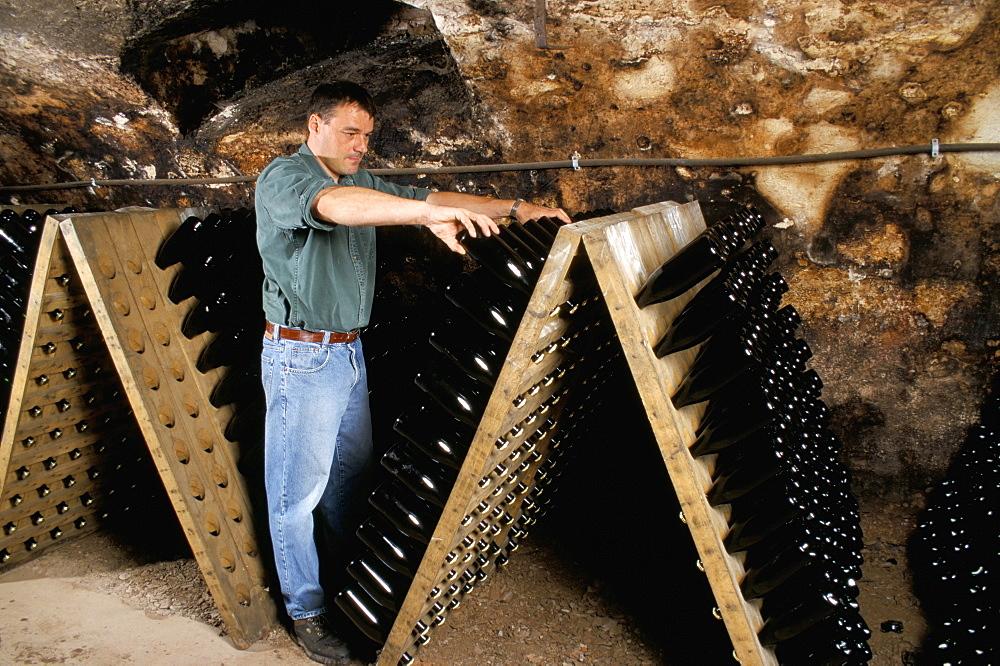 Champagne production, Kastel-Staadt, Saar Valley, Germany, Europe