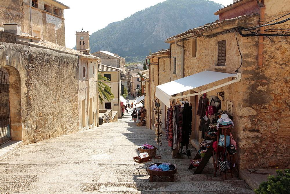 Calvary steps, Pollenca, Mallorca, Balearic Islands, Spain, Europe