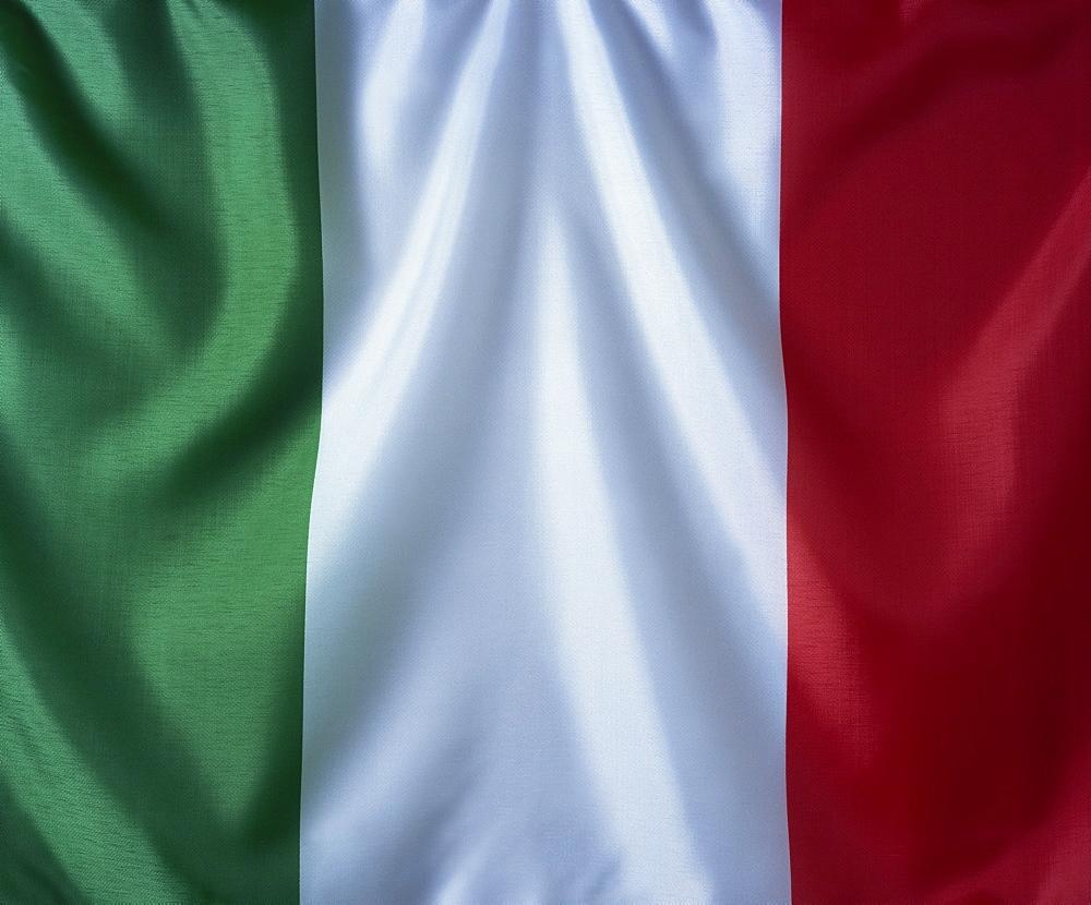 Close-up of Itallian flag, Italy, Europe