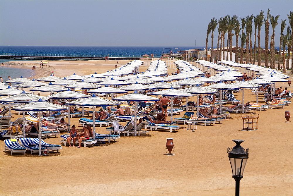 Hotel beach, Hurghada, Red Sea, Egypt, North Africa, Africa