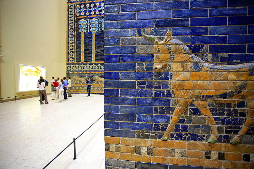 Detail of Ishtar Gate, Pergamon Museum, Berlin, Germany, Europe