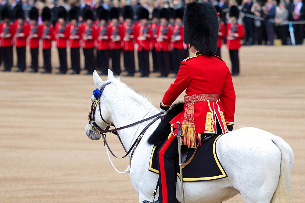 Soldiers at Trooping the Colour 2012, The Queen's Official Birthday Parade, Horse Guards, Whitehall, London, England, United Kingdom, Europe