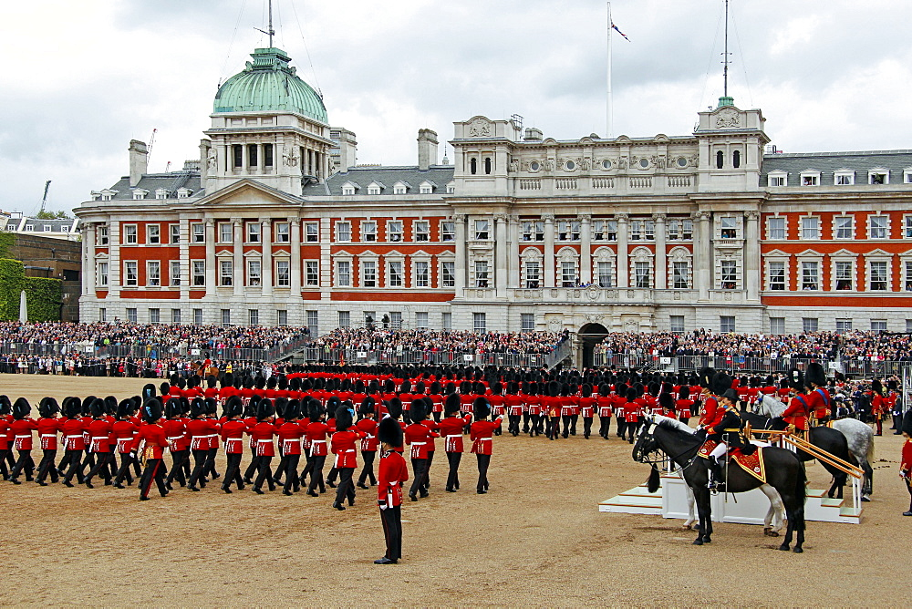 Soldiers at Trooping the Colour 2012, The Birthday Parade of the Queen, Horse Guards, London, England, United Kingdom, Europe