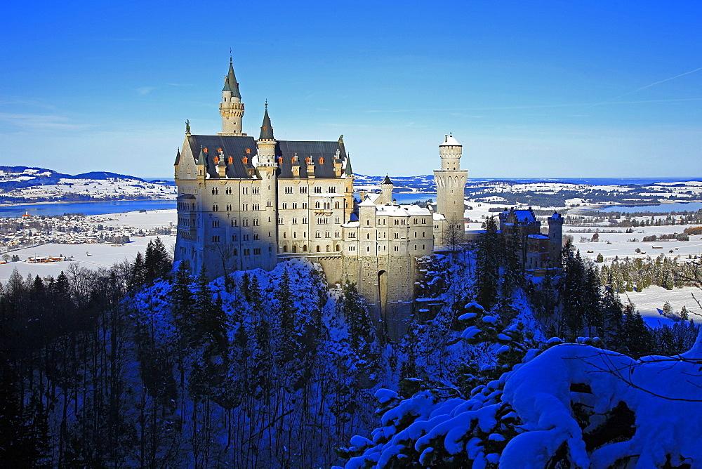Neuschwanstein Castle near Schwangau, Allgäu, Bavaria, Germany