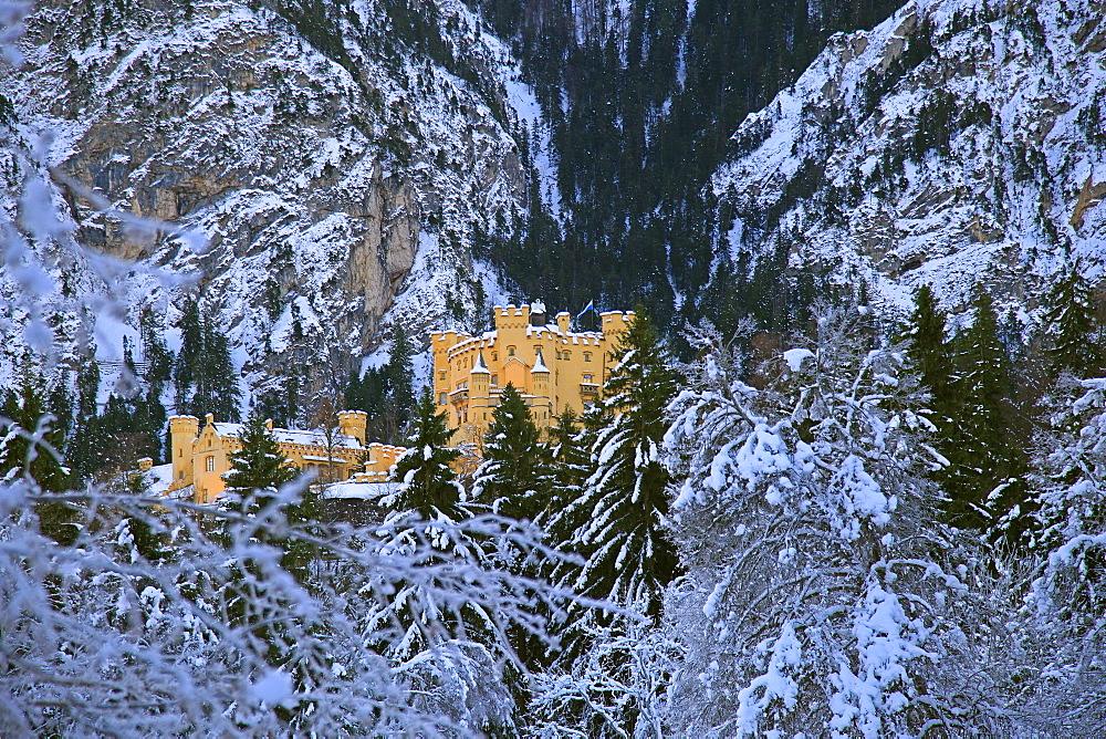Hohenschwangau Castle near Schwangau, Allgäu, Bavaria, Germany