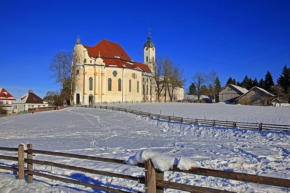 Church of Wieskirche near Steingaden, Bavaria, Germany, Europe