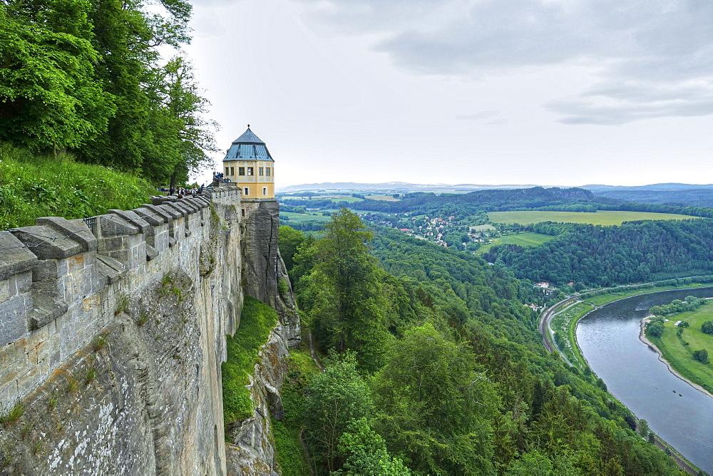 Koenigstein Fortress, Saxon Switzerland, Saxony, Germany, Europe