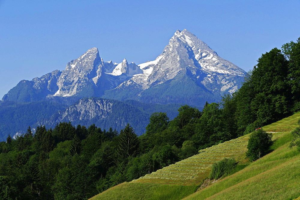 Watzmann Mountain, 2713m, Berchtesgaden, Upper Bavaria, Bavaria, Germany, Europe