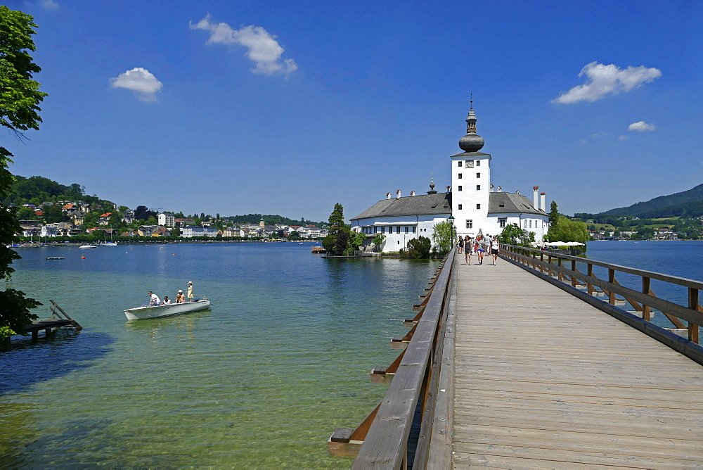 Ort Castle in the Town of Gmunden on Lake Traunsee, Salzkammergut, Upper Austria, Austria