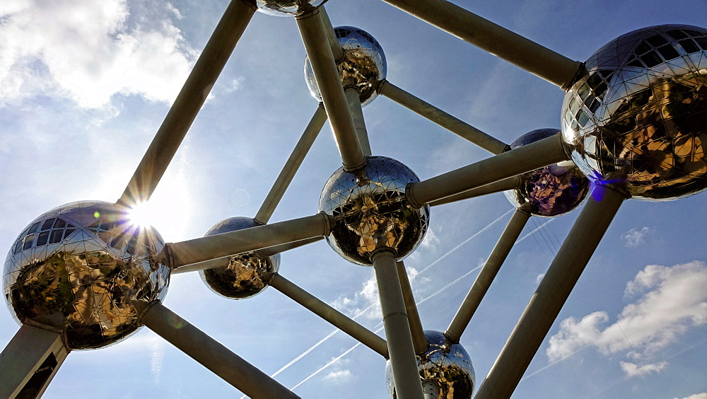 Atomium in the Urban District of Laeken, Brussels, Brabant, Belgium