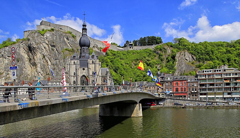 Citadel of Dinant on Meuse River, Dinant, Province of Namur, Wallonia, Belgium
