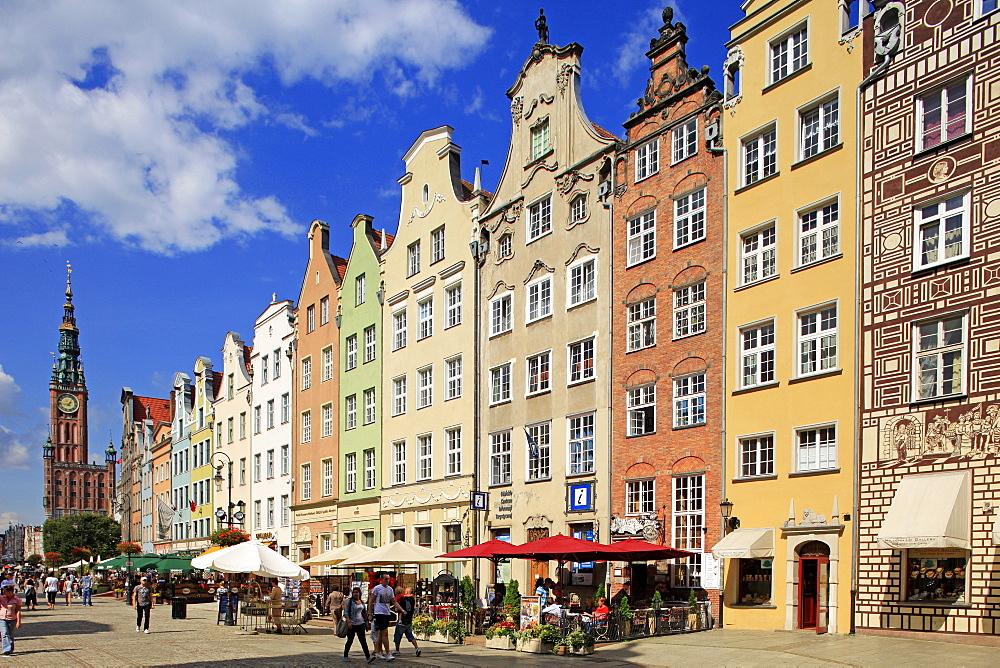 Long Market in Gdansk, Gdansk, Pomerania, Poland