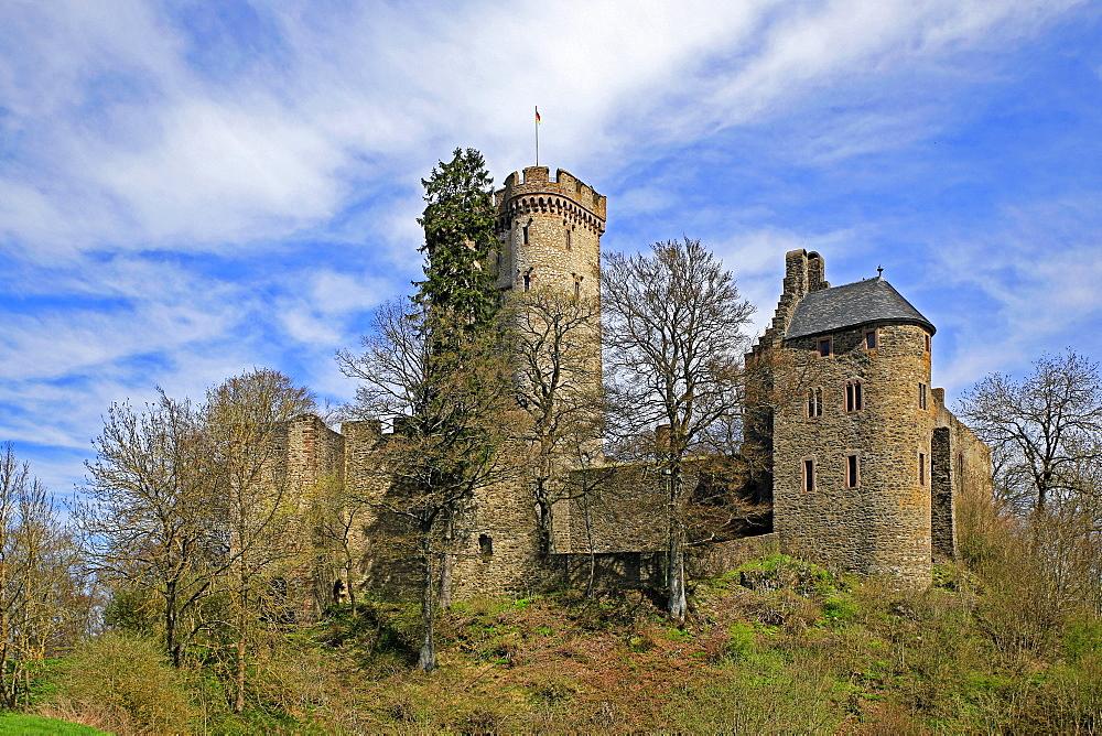 Kasselburg Castle near Pelm, Eifel, Rhineland-Palatinate, Germany
