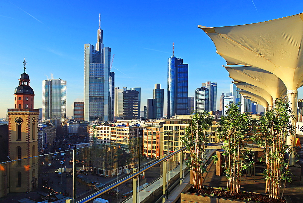 Hauptwache and Financial District, Frankfurt am Main, Hesse, Germany, Europe