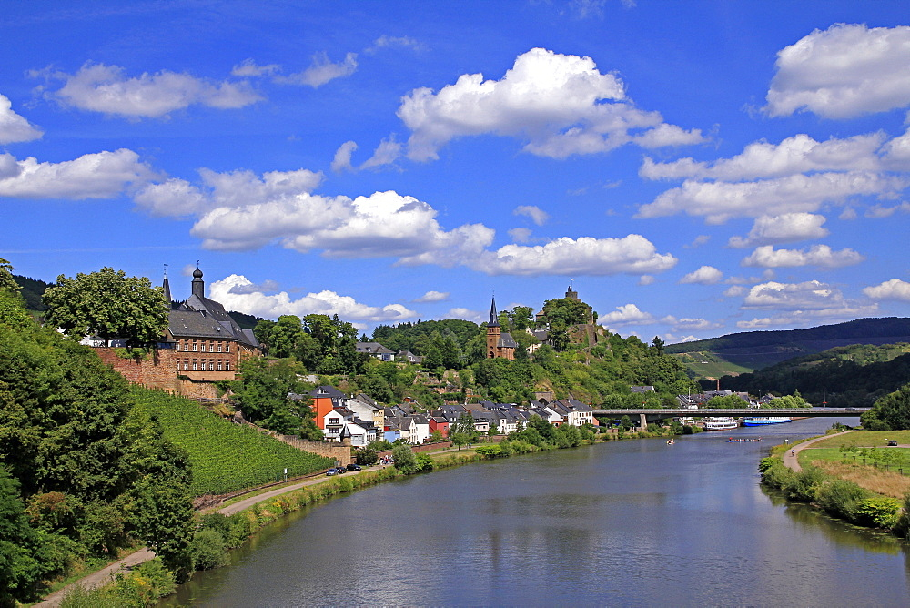Town of Saarburg on River Saar, Rhineland-Palatinate, Germany