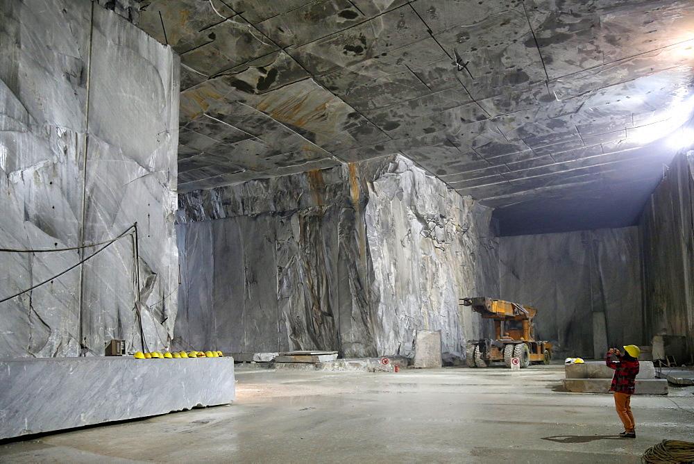 Marble Cave of Fantiscritti, Carrara, Tuscany, Italy
