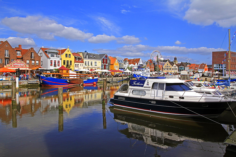 Harbour of Husum, Schleswig-Holstein, Germany, Europe