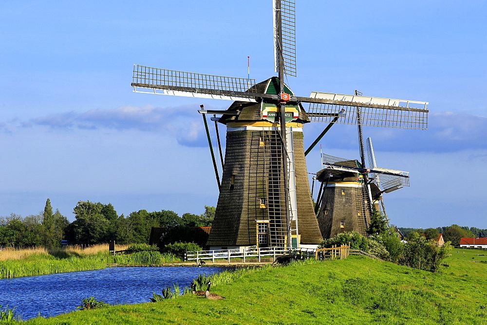 Windmills of Leidschendam, South Holland, Netherlands, Europe