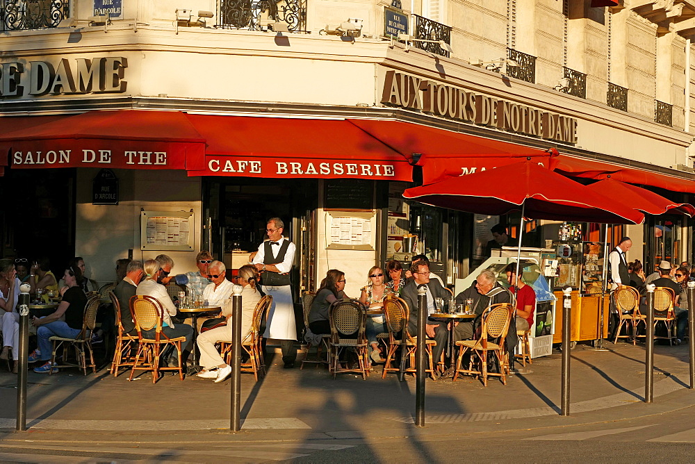 Cafe at Cathedral Notre Dame, Paris, France, Europe