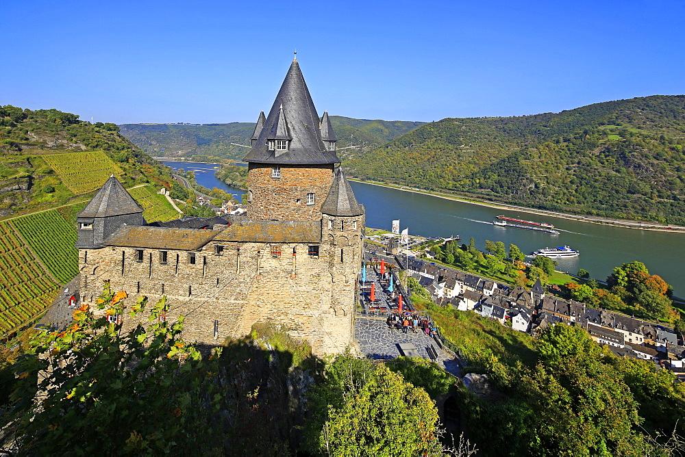 Stahleck Castle near Bacharach, Rhine Valley, Rhineland-Palatinate, Germany