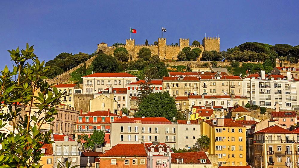 Castelo de Sao Jorge, Baixa, Lisbon, Portugal, Europe