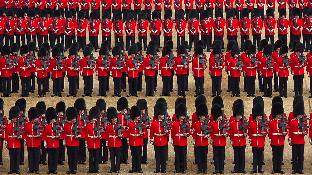The Queen's Annual Birthday Parade, Trooping the Colour, Horse Guards Parade, Whitehall, London, England, United Kingdom, Europe
