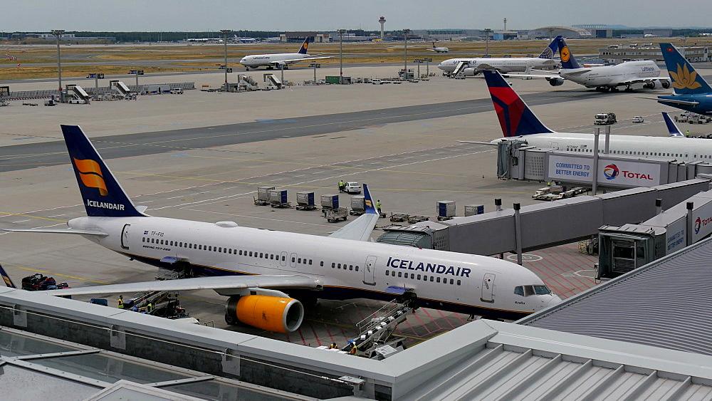 Icelandair Boeing 757 at Terminal 2, Frankfurt Airport, Frankfurt am Main, Hesse, Germany