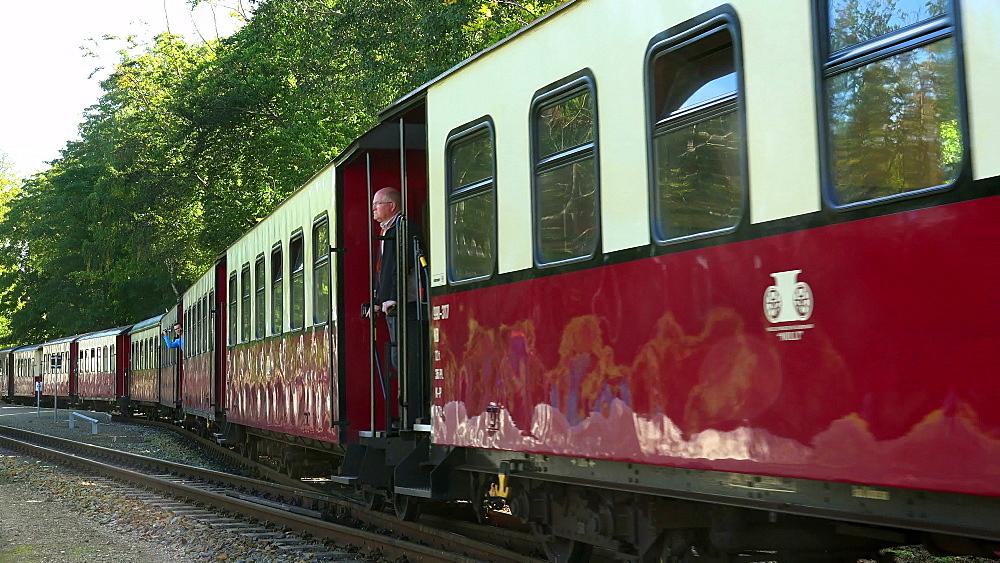Molli Steam Train in Heiligendamm, Baltic Sea, Mecklenburg-Western Pomerania, Germany, Europe