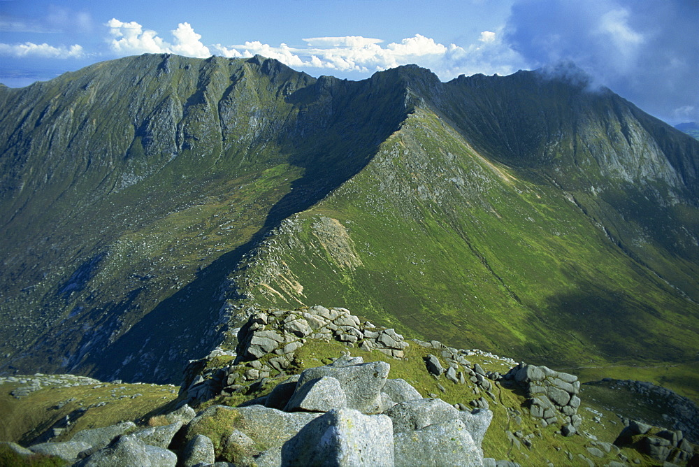 The Goat Fell Range, The Big Mountains of Arran, Isle of Arran, Strathclyde, Scotland, United Kingdom, Europe - 397-1079