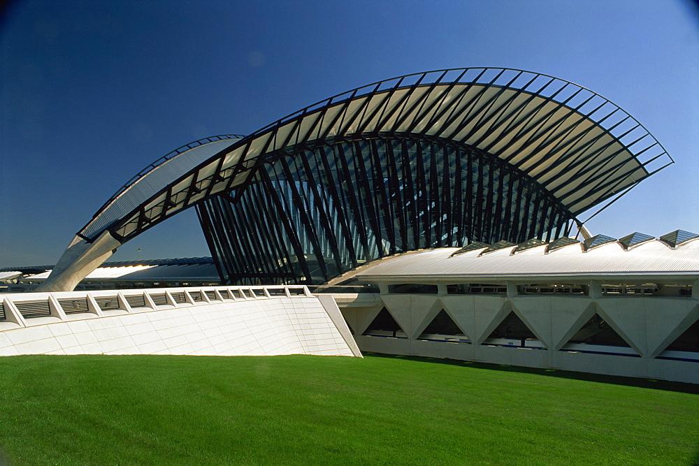 International Airport and TGV rail station, Satolas, Lyon, Rhone, France, Europe - 397-2125